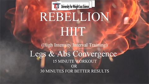 V851 - Rebellion - Legs & Abs Convergence HIIT Workout - Intermediate
